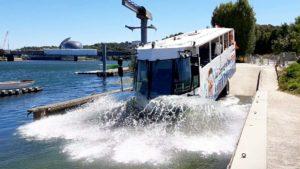 The big amphibious splash !